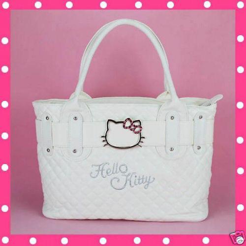 Hello-Kitty-Tasche-Handtasche-Damentasche-Henkeltasche-Bag-Weiss-PE0K