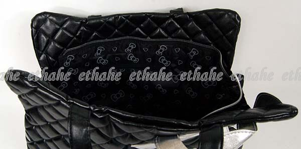 Hello Kitty Head Shaped Tote Shoulder Bag Black G7P5