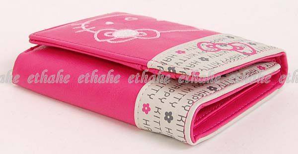 Hello Kitty Trifold Mini Wallet Coin Purse Rose A7SV