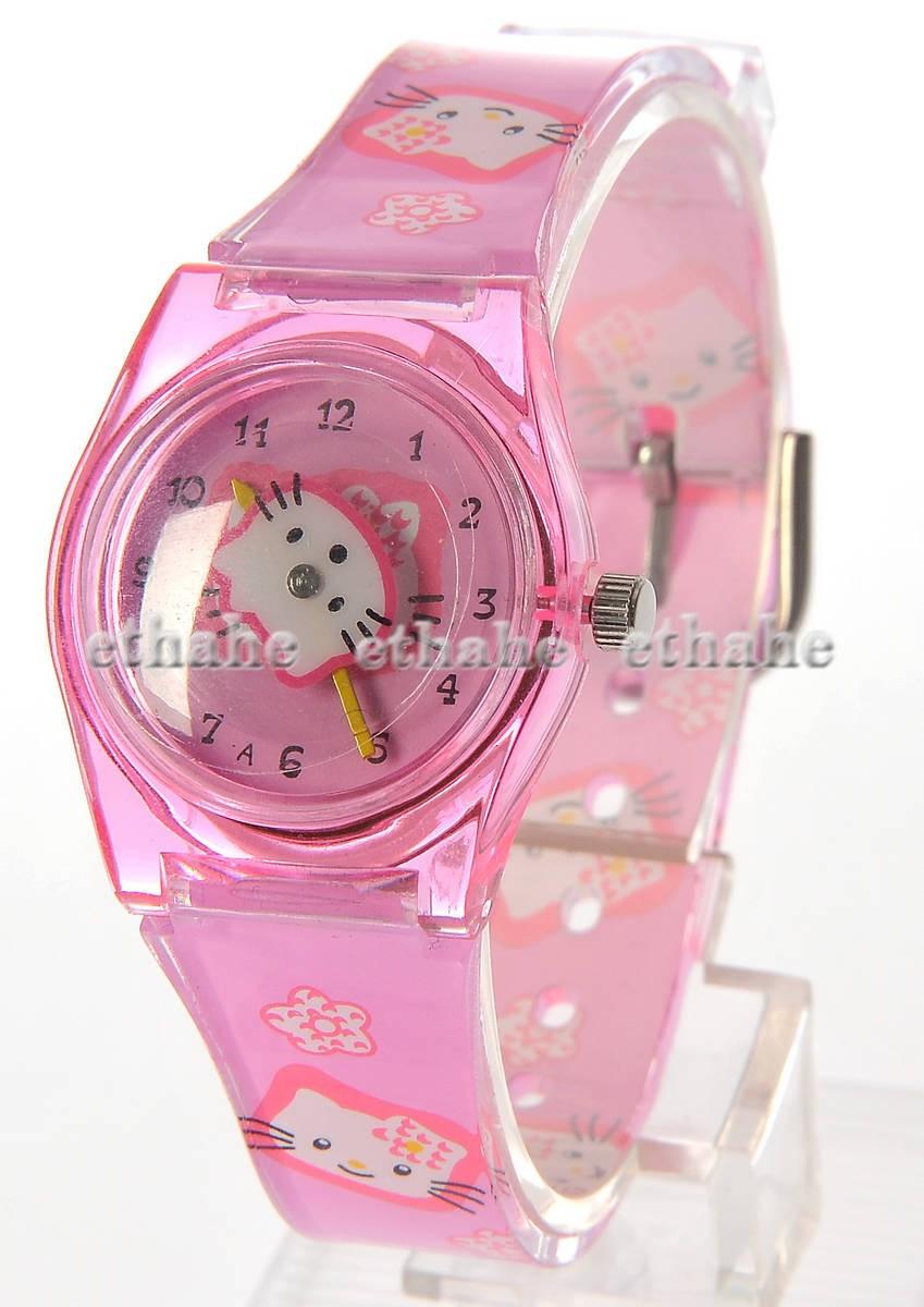 Hello Kitty Cute Wrist Watch Wristwatch Band Pink 28P1