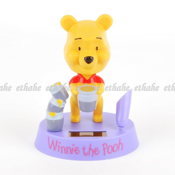 Winnie the pooh solar spielzeug auto deko lila e8g182 ebay for Winnie pooh kuchen deko