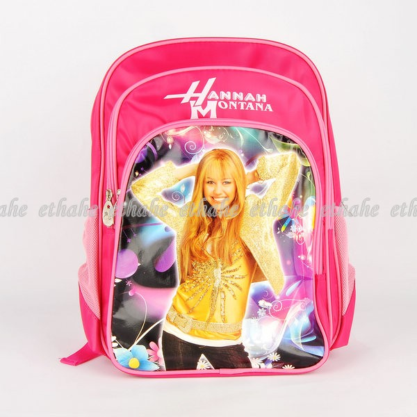 Hannah-Montana-School-Bag-Backpack-Rucksack-Pink-EGGNPJ
