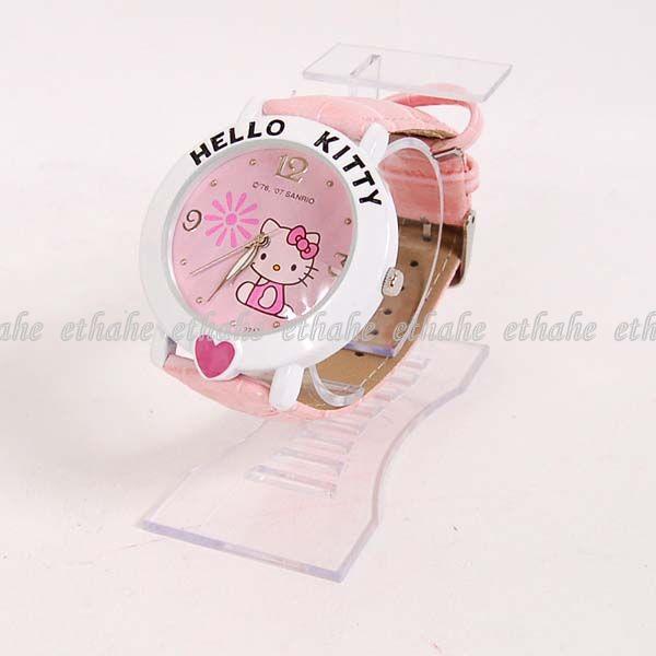 Hello Kitty Heart Wrist Watch Wristwatch Band F1H9I