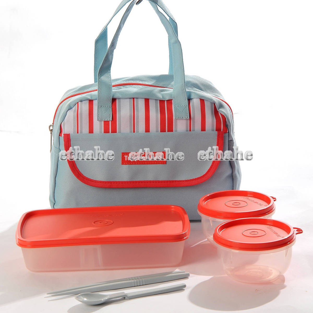 tupperware new lunch set bento lunch box ideal little bowls handbag 6pcs eahtpv. Black Bedroom Furniture Sets. Home Design Ideas