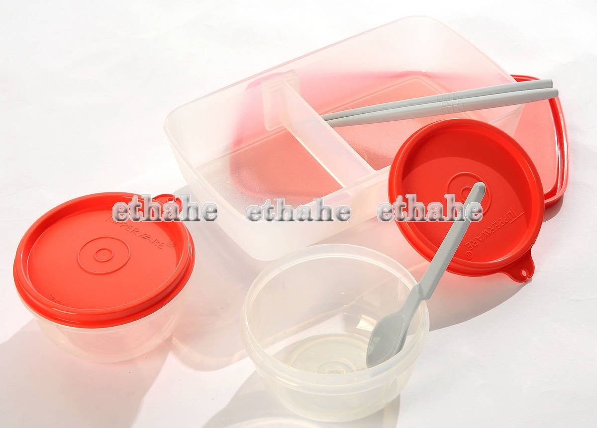 tupperware new lunch set bento lunch box ideal little. Black Bedroom Furniture Sets. Home Design Ideas