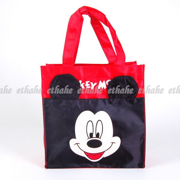 micky maus tasche einkaufstasche shopper damen rot wn7m ebay. Black Bedroom Furniture Sets. Home Design Ideas